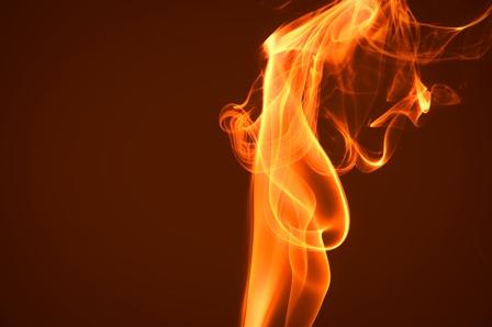 Abstract smoke waves (isolated)